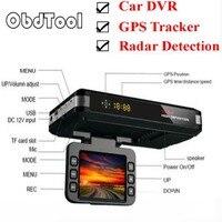 ObdTooL 3 In 1 Car DVR Anti Radar Detector Full Bands GPS Camera Tracker G sensor Dual Camera Loop Recording Dash Cam