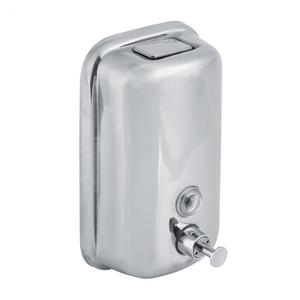 Image 3 - 800/1000mL Stainless Steel Soap Dispenser Wall Mounted Liquid Shampoo Lotion Container Kitchen Bathroom Hand Sanitizer