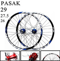 26/27.5/29inch MTB mountain bicycle bike CNC front 2 rear 4 sealed bearings disc wheels 7/11 Speed Alloy Rim Wheelset