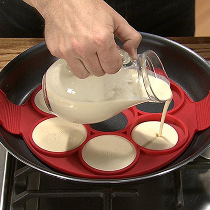 Pancake Maker Nonstick Cooking Tool Round Heart Pancake Maker Egg Cooker Pan Flip Eggs Mold Kitchen Baking Accessories