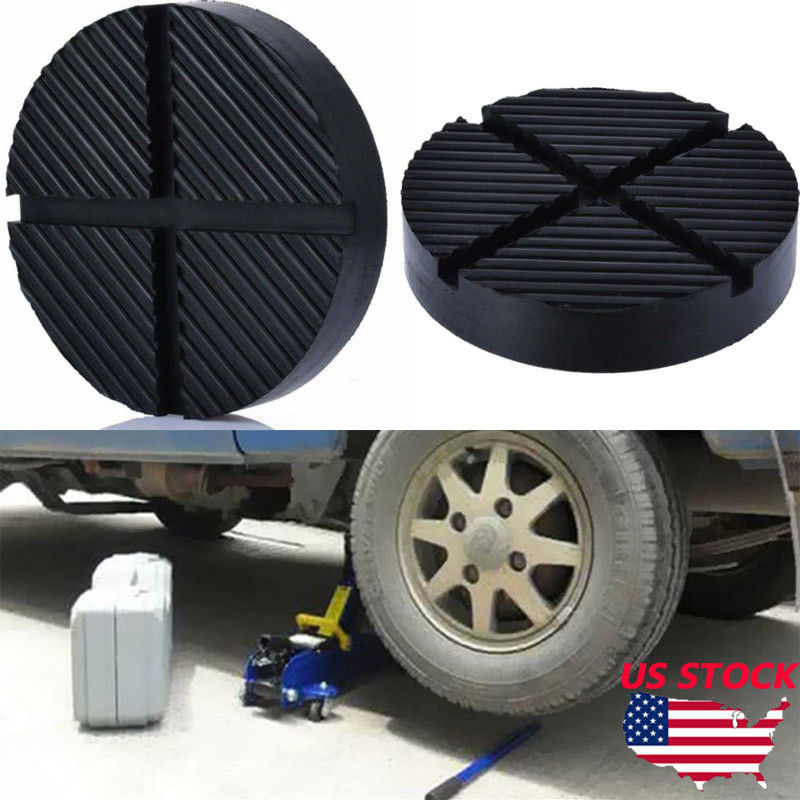 Car Slotted Frame Rail Floor Jack Disk Rubber Pad Adapter Pinch Weld JACK PAD