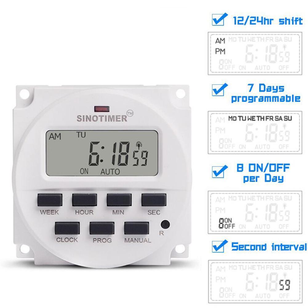 Digital do Temporizador da Precisão de Yiwa Interruptor Programável 5v