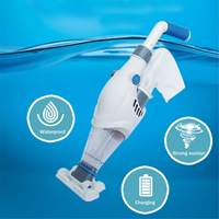 Cordless Handheld Swimming Pool Water Vacuum Cleaner Suction Removes Debris Cleaner Kit Brush Broom Pool Accessories 24W 1.5L