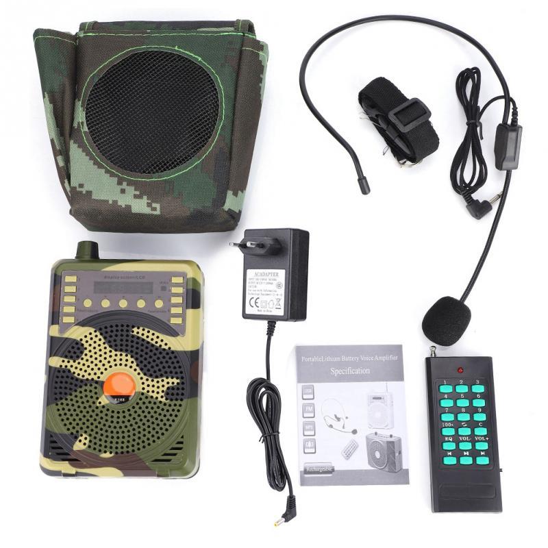 Hunting Decoy Calls Electronic Bird Caller Camouflage 48W Electric Hunting Decoy Speaker MP3 Speaker Remote Controller