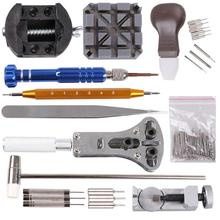 цена 136pcs Set of Repair Table Tools Watch Tools Clock Repair Tool Kit Opener Link Pin Remover Set Spring Bar Watchmaker Tools онлайн в 2017 году