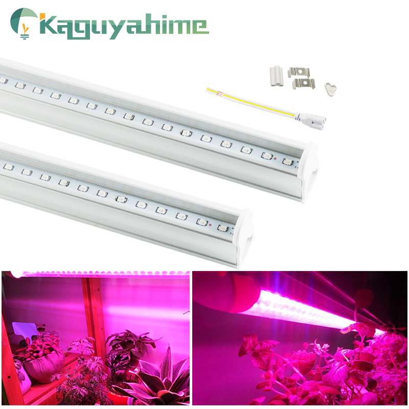 Kaguyahime 1/2/4pcs 6W 220V T5 Tube Led Grow Light Full Spectrum 30cm 110V 220V Plant Lamp Growth Hydroponic LED Grow Lamp