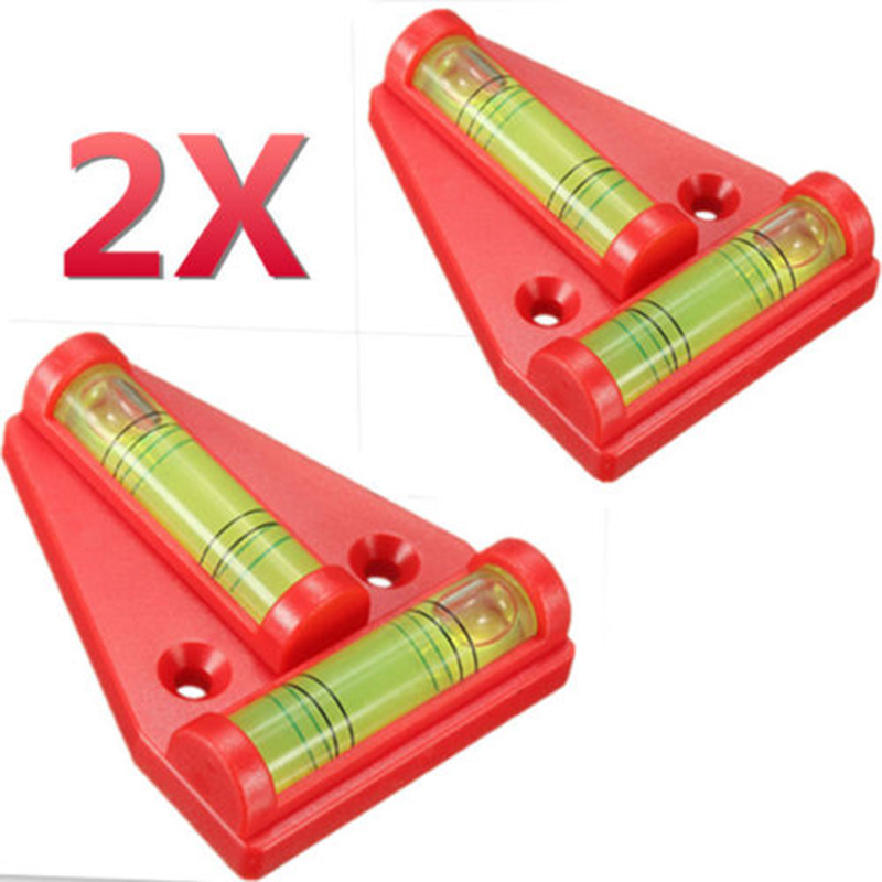 2pcs Hot Mini T Level New Caravan RV Camper Trailer Motorhome Sailing Accessories Parts