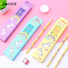 12Pcs/Set Cute Kawaii Cartoon Unicorn Pencil HB Sketch Items Drawing Stationery Student School Office Supplies for Kids Gift 2018 minecraft toys peripheral kit student stationery hb pencil diamond sword gift