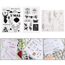 Прозрачный чистый силикон штамп печать для DIY Скрапбукинг фото альбом декоративные печати для оттиска на бумаге штампы листы 8 видов стилей