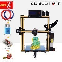 ZONESTAR HotSale Dual Extruder Mixing Color Aluminum Frame Auto Level Filament Run Out 3D Printer DIY Kit Option Laser Engraving