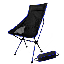 Foldable Moon Chair Fishing Camping Barbecue Stool Hiking Seat Portable Chair Aluminum Alloy+Oxford Cloth Lightweight Chair