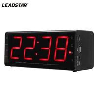 LEADSTAR MX 20 Alarm Clock bluetooth Speaker Portable Wireless 3D Stereo Speaker with Mic Handfree 2000mah TF FM AUX