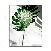 Top Selling Nordic Canvas Painting Modern Prints Plant Leaf Art Posters and Prints Green Art Wall Pictures Living Room No Framed top posters холст top posters 50х75х2см g 1044h