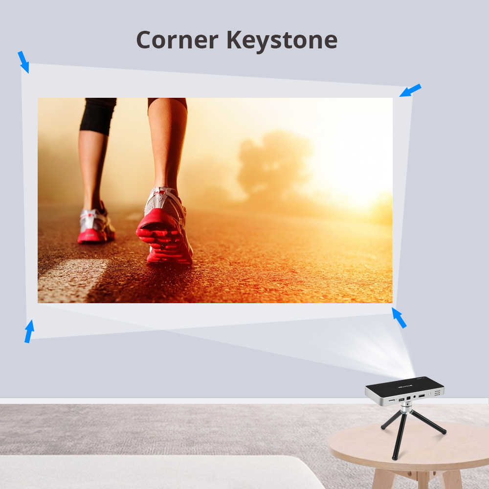 BYINTEK UFO P10 Android 7.1.2 OS Wifi Mini HD LED Projector For Full HD1080P MAX 4K Portable Smart Home Theater Pocket