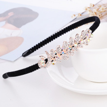LNRRABC Korean version of rhinestones bow Wild headband shiny flower hair band girl clothing accessories