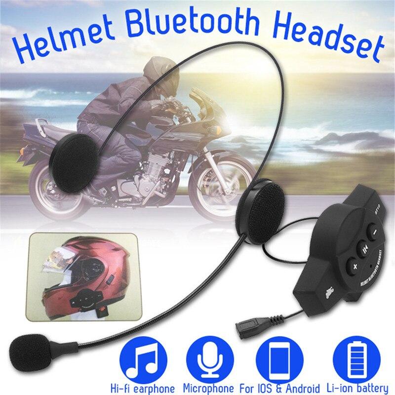 High Quality Microphone Speaker Motorcycle Helmet Headset  Wireless bluetooth Soft Accessory Motor Intercom Work Anti-interfer
