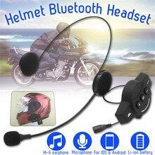 Di alta Qualità Microfono Altoparlante del Casco Del Motociclo Auricolare Senza Fili di bluetooth Morbido Accessorio Motore Citofono Lavoro Anti-interfer