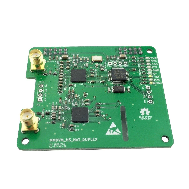 Duplex MMDVM Hotspot Soutien P25 DMR FSJ pour Raspberry Pi avec 2 Antenne US Ship