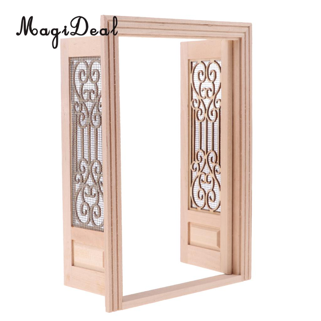 Newel Post  narrow wooden dollhouse miniature 2pcs 7206 for stairs /& railing