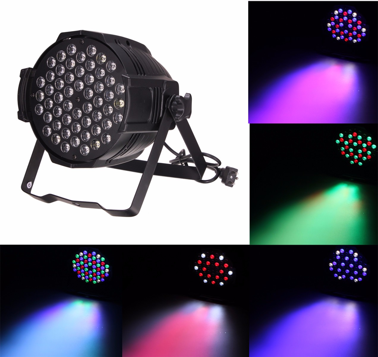 54pcs 3W 6CH LED RBGW 180W Stage Par Lighting Music Club Disco DJ Party Bar54pcs 3W 6CH LED RBGW 180W Stage Par Lighting Music Club Disco DJ Party Bar