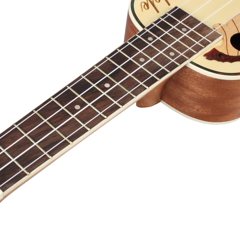Ukulélé acoustique de ukulélé d'épicéa de Concert avec le Kit intégré de ukulélé de ramassage d'eq - 5