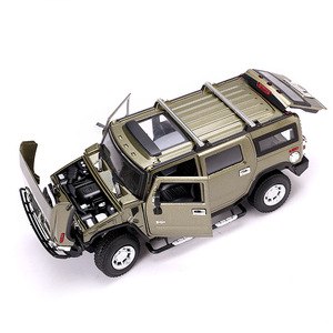 Image 3 - 2019 1:24 Hummer H2 Legering Model Diecast Metalen Auto Speelgoed Voor Kinderen Brinquedos Juguetes Oyuncak Dropshipping Hotwheelsing