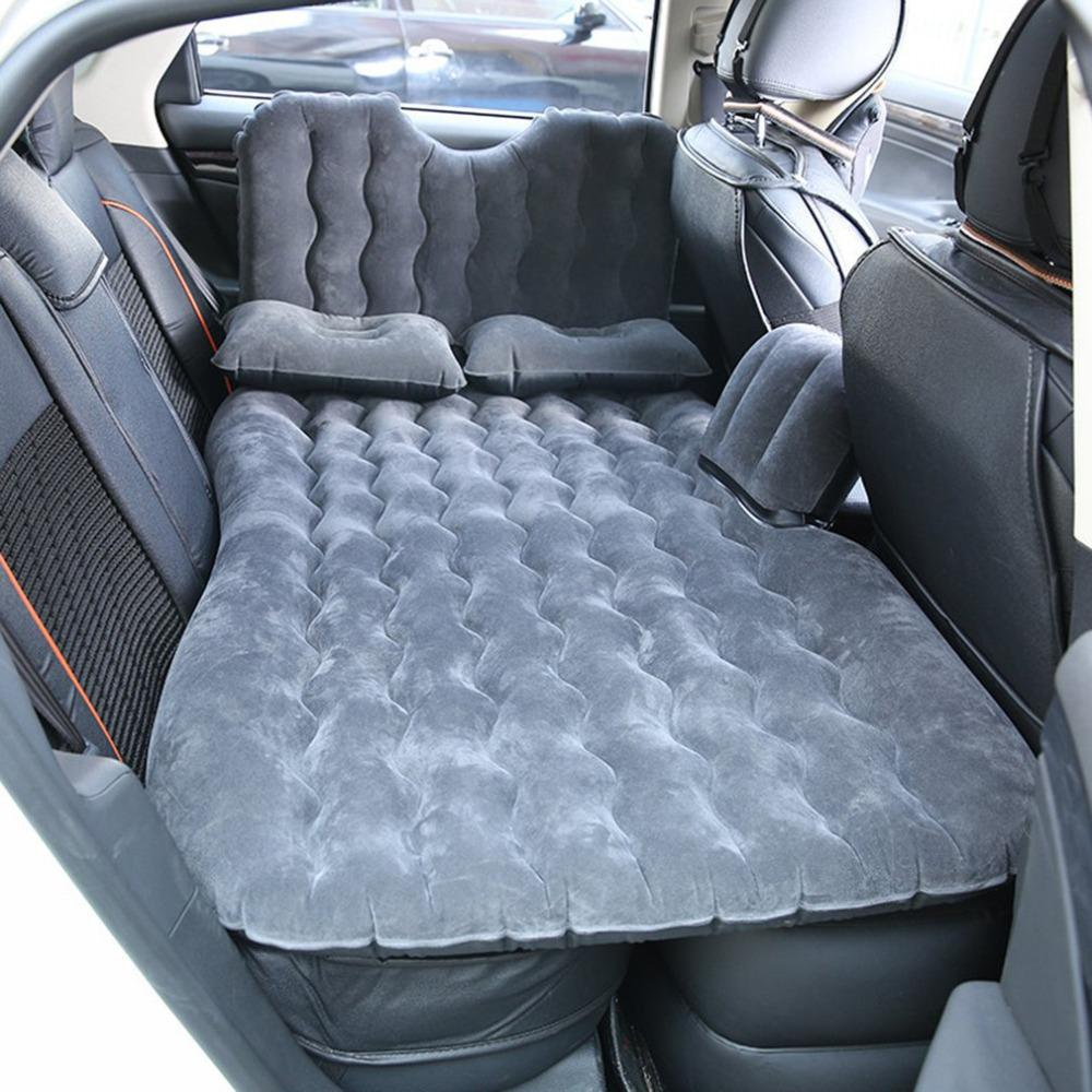 90*135CM Car Air Mattress Travel Bed Inflatable Back Seat Cover Multi functional Sofa Pillow Outdoor Camping Mat Car Parts