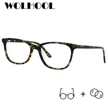 89c549a482 Clásico receta de acetato gafas hombres óptico fotosensibles Anti-luz azul  claro lente hipermetropía miopía gafas Mujer
