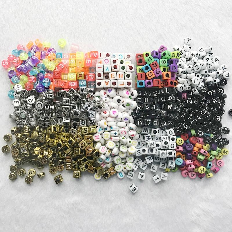 Letter Beads Diy-Accessories English-Alphabet-Beads Handmade-Material Acrylic 100pcs