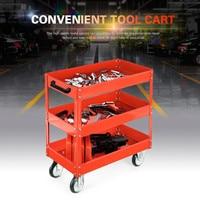 Heavy Workshop Garage DIY Tool Storage Trolley Wheel Cart Tray 3 Tier Shelf 200kg Load Capacity for Holding Heavy Equipment