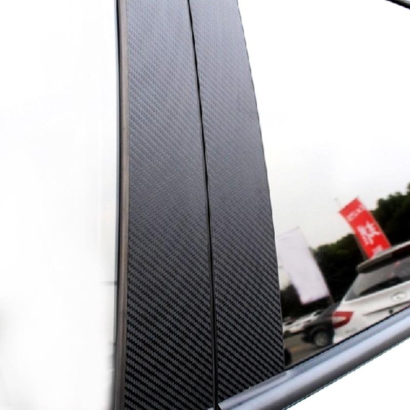6 個車の炭素繊維ウィンドウ B ピラー外装成形装飾カバートリムのためにメルセデスベンツ GLC クラス 2015 2016 2017 2018 -    グループ上の 自動車 &バイク からの インテリア モールディング の中