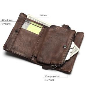 Image 2 - TAUREN 새로운 짧은 지갑 여성용 동전 지갑 남성용 동전 지갑 정품 가죽 레이디 지퍼 디자인 동전 지갑 포켓 짧은 Walet