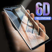 6D Full Cover Tempered Glass On For Samsung Galaxy S8 S9 Edge Note 8 9 Screen Protector For Galaxy S6 S7 Edge Plus Glass Film(China)