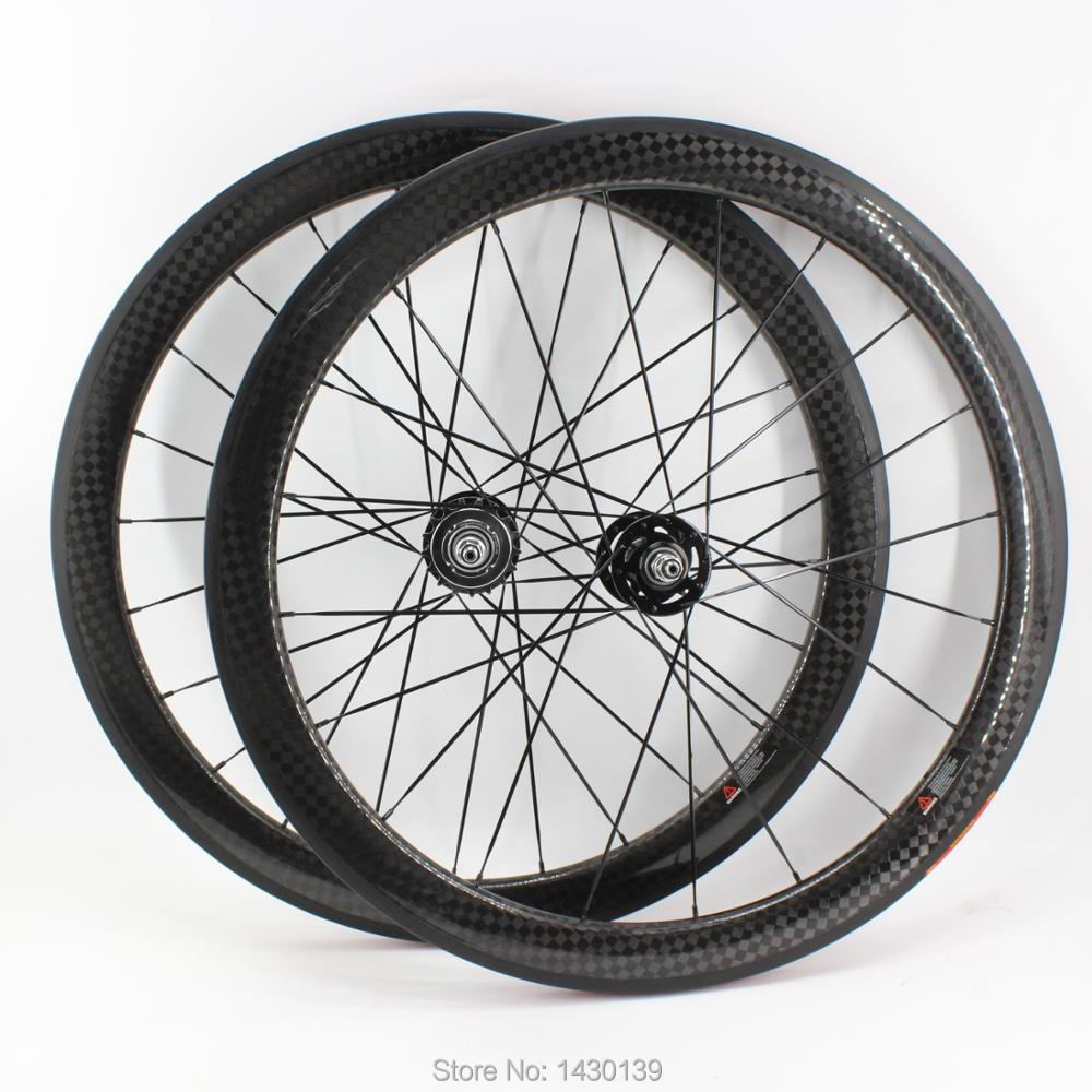 1pair Newest 700C 50mm clincher rim Track Fixed gear bike 12K full carbon fibre bicycle wheelset 20.5 23 25mm width Free ship