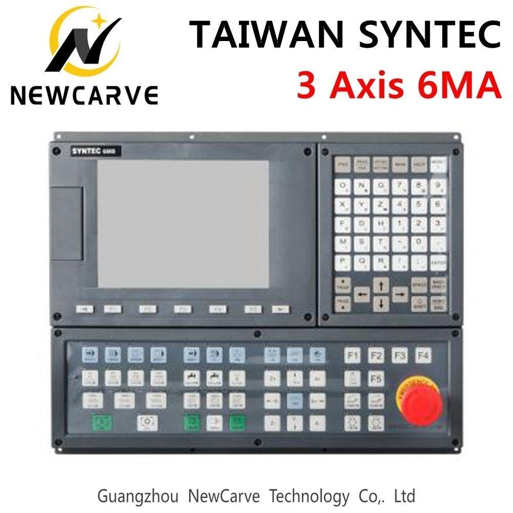 Купить с кэшбэком TAIWAN SYNTEC 6MA 3 Axis CNC Milling Machine Controller LCD displays 3-Axis Servo Positioning Control System Manual NEWCARVE