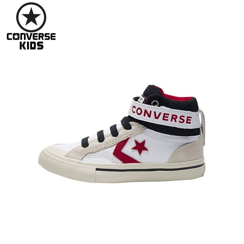 CONVERSE KIDS Shoes High Help Sneakers For Boys White And Black Comfortable Casual Shoes 662756C