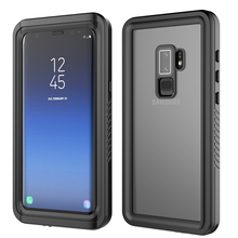 CASEWIN Waterproof phone cases For Samsung Galaxy S9 Plus Case Transparent full protect Dustproof Shockproof Back Cellphone