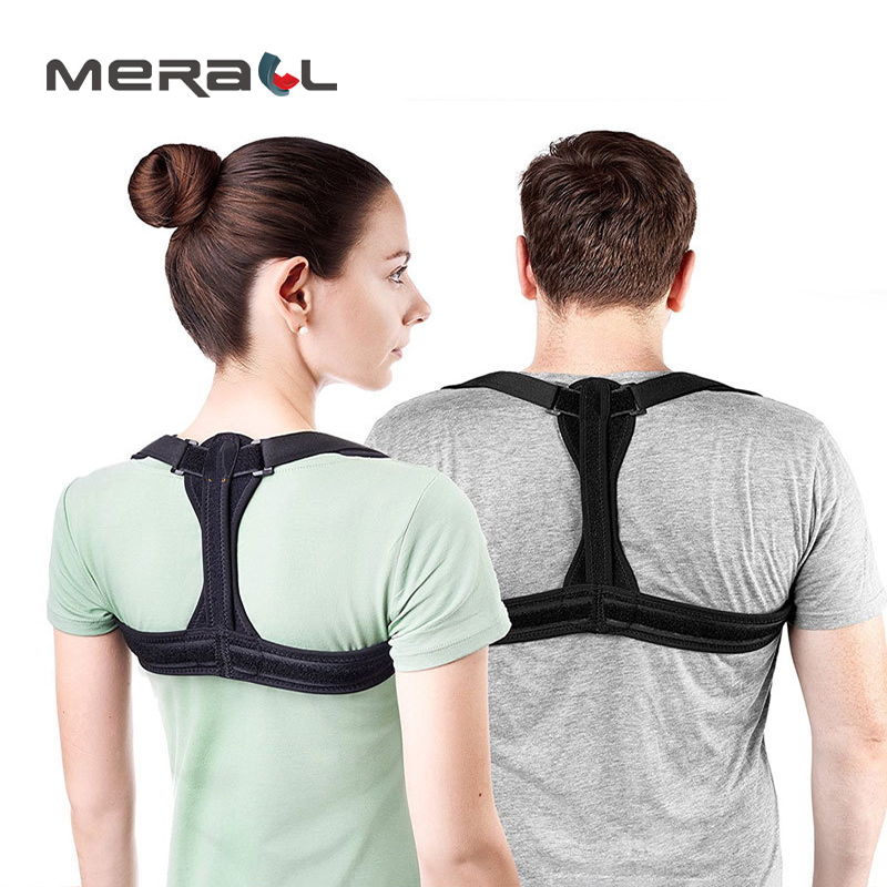 Back Posture Corrector Shoulder Black Support Straightener Orthopedic Belt Pain Reliever Phsical Therapy Adult Health Care Tool