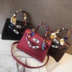 beabf0c6715c 2019 сумки через плечо для женщин Роскошные кожаные сумки известный  дизайнер бренда Bolsa Feminina крокодил сумка