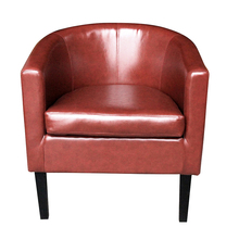 Panana Faux Leather Tub Lounge Chair Armchair Club Chair Dining Living Room Cafe Padded Seat Fast shipping