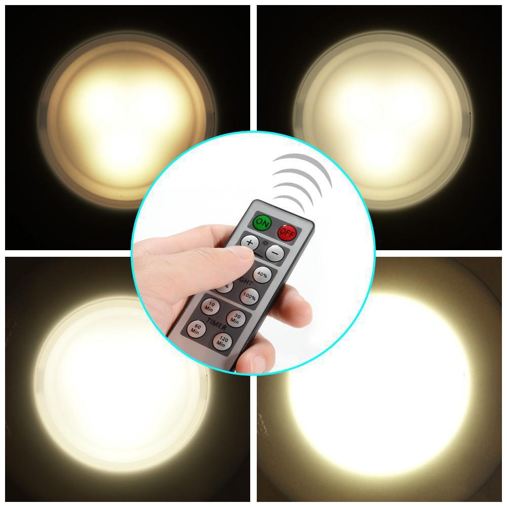 Ehrlich Wireless-led Puck Licht Set Mit Dimmer Und Timer Batterie Powered Licht Mit Fernbedienung Geeignet Für Küche Schrank 12 Pack