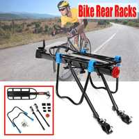 Mountain Bike Bicycle Cargo Racks Aluminum Bicycle Luggage Carrier Holder MTB Bicycle Road Bike Rear Rack Black