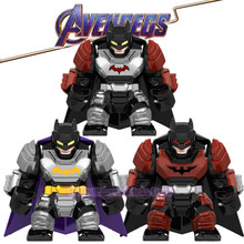 LegoING DC Marvel Super Heroes Batman Bruce Wayne Justice League of America Avengers Endgame Building Blocks Children Gift Toys