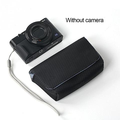 Digital Camera Case Portable Nylon Protective Carrying Pouch strap Cushion Pocket Case hand Bag For Sony Cameras #08 Lahore