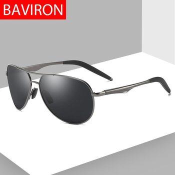 d6b0f632f6 Gafas de sol piloto BAVIRON para hombre polarizadas 100% uva uvb Metal  Vintage Hombre gafas de sol versión nocturna gafas de sol soporte de envío  directo