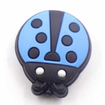 100pcs Food Grade Silicone Beads Of Cartoon Ladybug Shape Teething Nursing Diy Beads Pacifier Clips Making Bpa Free Baby Teeth