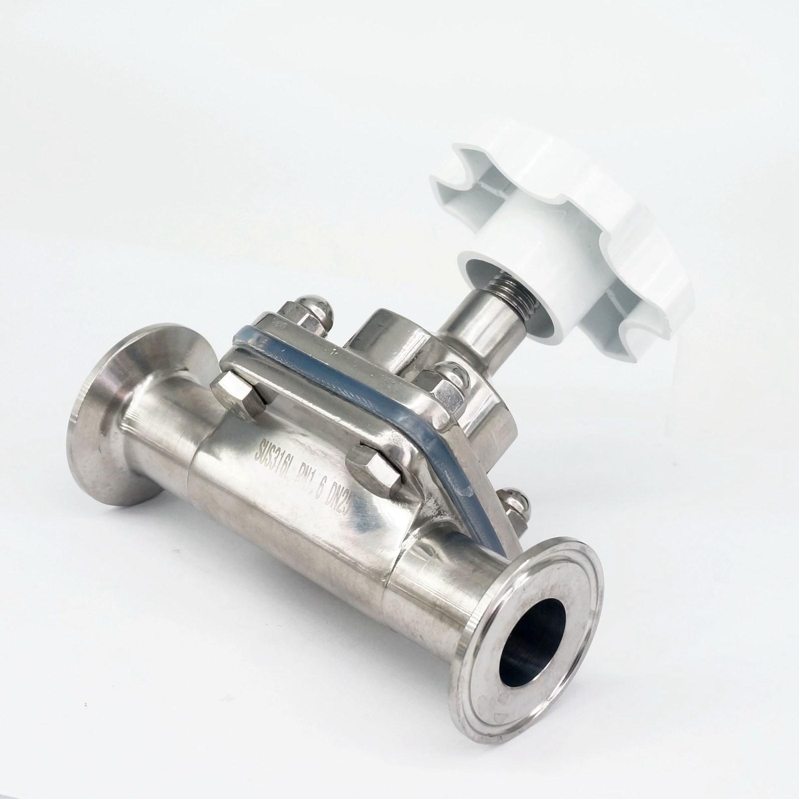 Der GüNstigste Preis 1 25mm 316 Edelstahl Sanitär 1,5 Tri Clamp Membran Ventil Brauen Bier Milch Produkt Gute QualitäT Ventil