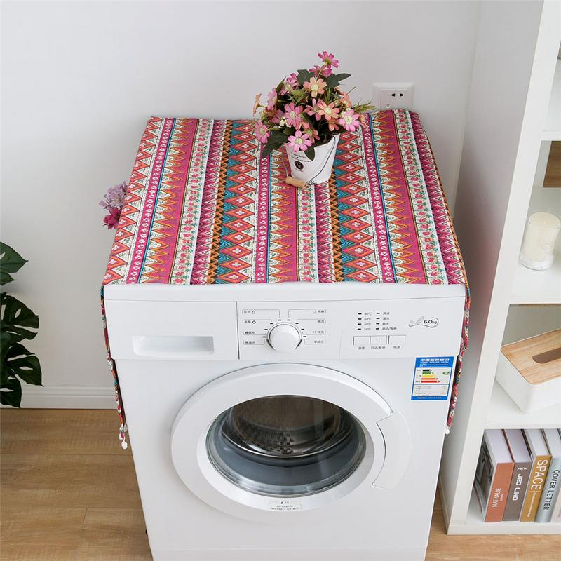 Augkun Ethnic Style Refrigerator Dustproof Cover Japanese Geometric Pattern Single Drum Washing Machine Towel Refrigerator Covers Aliexpress