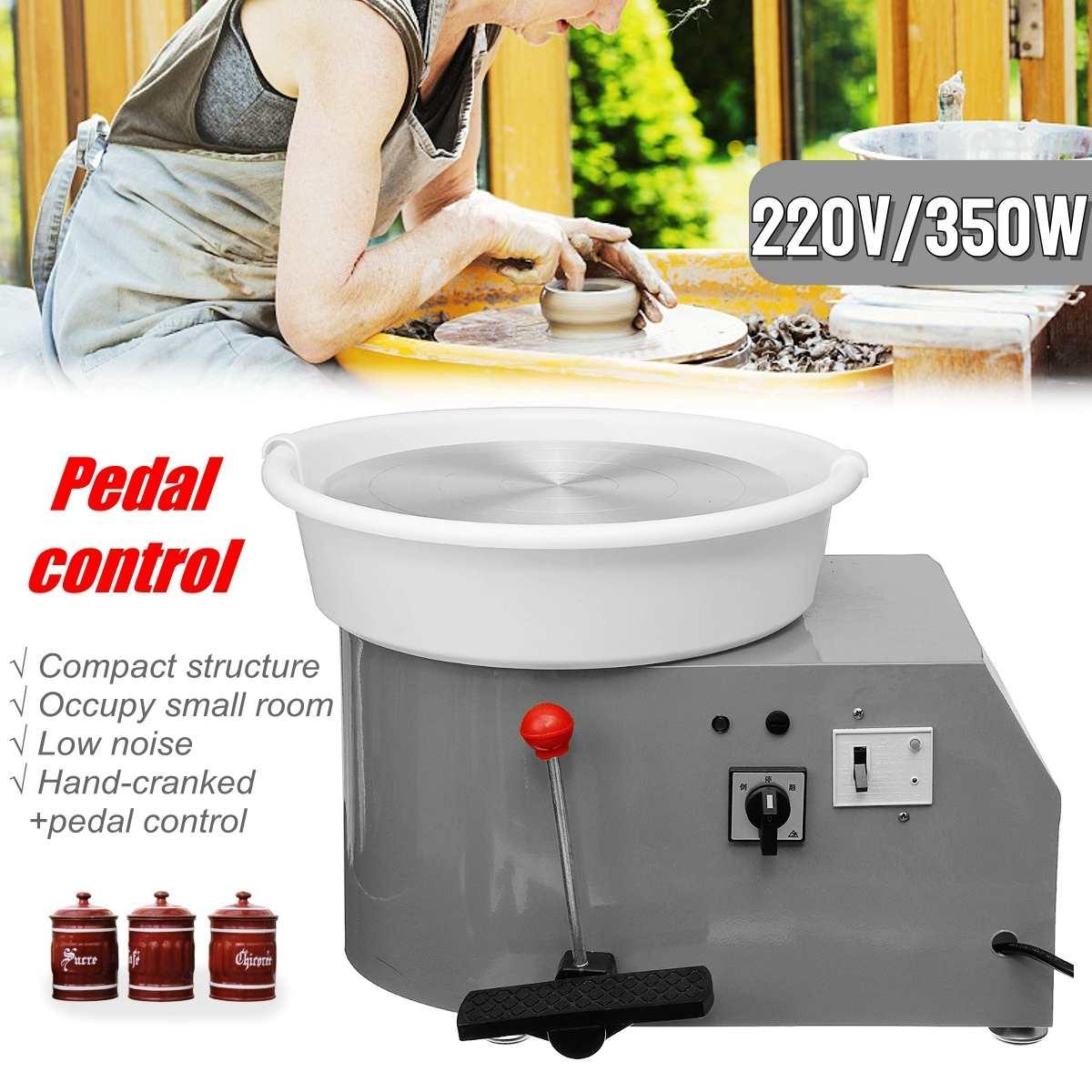 Machine en céramique de roue de poterie électrique de 220 V 350 W Kit de potier d'argile en céramique de 300mm pour la céramique de travail en céramique