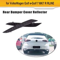2PCS ABS Rear Bumper Reflector Lamps Rear Light Reflective Strips for Volkswagen VW Golf MK7 7.5 Base GTI R Rline 2014 2018